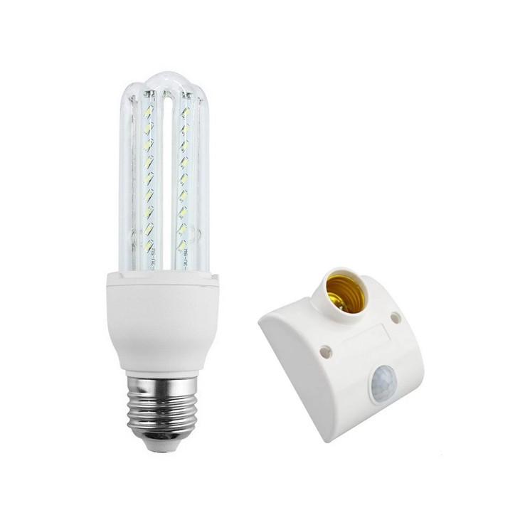 Bóng đèn LED chữ U 12W+ chuôi đèn cảm biến