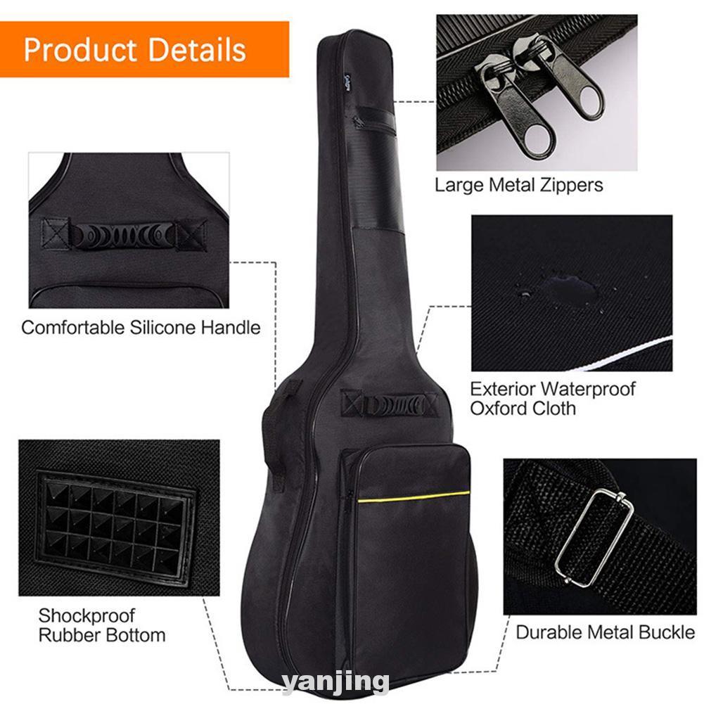 Protection Carry Pockets Travel Oxford Cloth Guitar Bag
