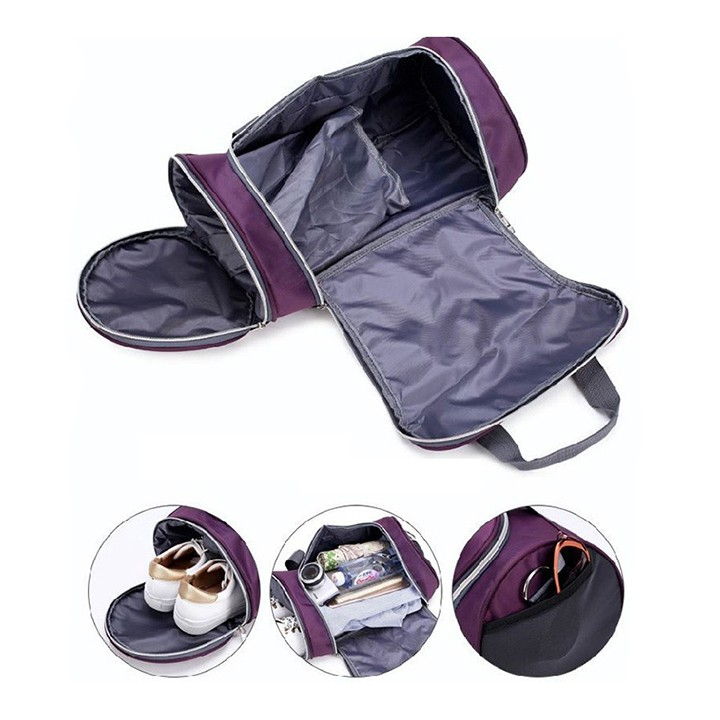Túi trống thể thao thời trang Unisex đa năng, túi tập gym cỡ lớn có ngăn đựng giày