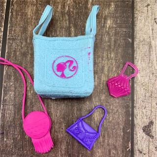 Set 4 túi xách nhiều màu sắc cho búp bê Barbie