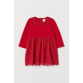 Váy ren đỏ HM H&M sz 6m-3y _hàng chính hãng Anh