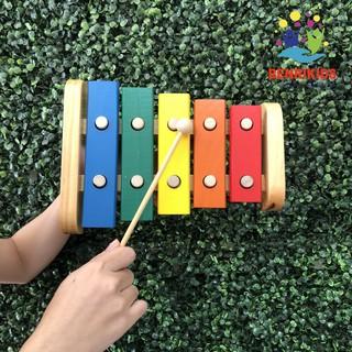 [SHOPEE TRỢ GIÁ](Hàng VN) Đàn Xylophone 5 Thanh Bằng Gỗ Cho Bé Phát Triển Năng Khiếu Âm Nhạc(Siêu Rẻ)