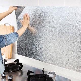 Combo 3m Cuộn giấy bạc dán bếp cách nhiệt chống thấm giá rẻ dán tường nhà bếp chống thấm bền đẹp loại khổ 60cm thumbnail