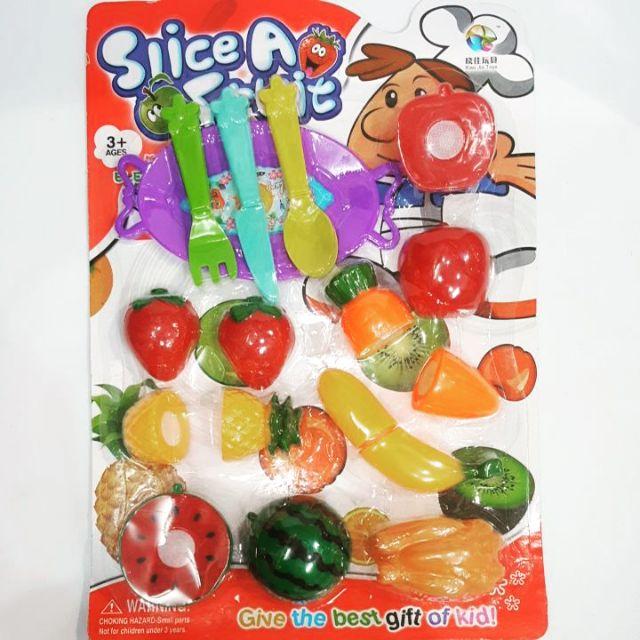 Bộ đồ chơi hoa quả thìa dĩa (4167)