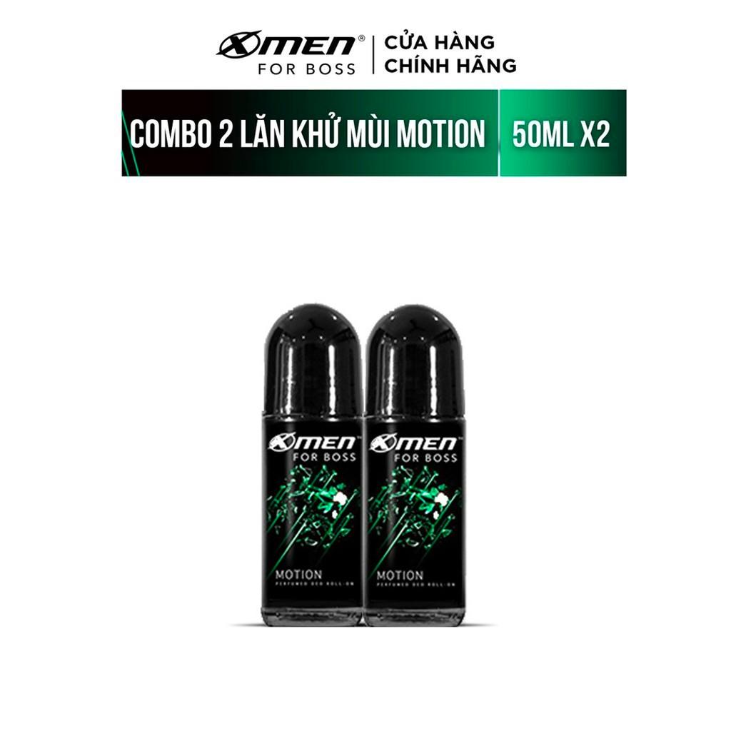Bộ 2 Lăn khử mùi Xmen for Boss 50ml/chai Hương Năng Động Motion