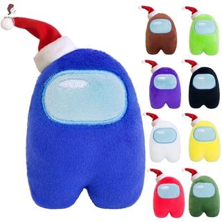 ETXK Xmas Hat Figure Among Us Plush Crewmate Plushie Kawaii Stuffed Soft Game Plush Toy Lovely Stuffed Doll Christmas Gift