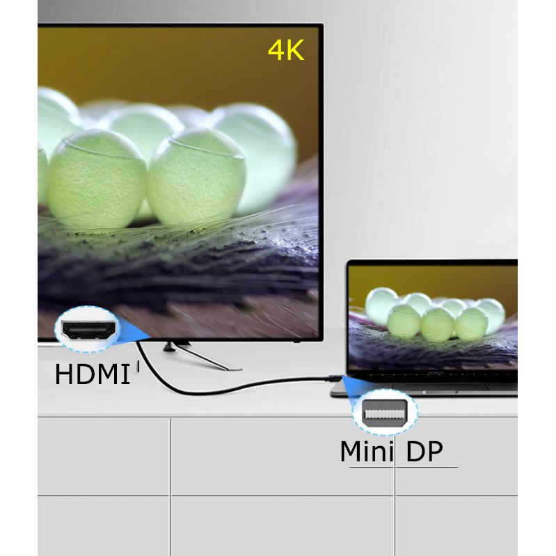 Cáp chuyển Mini Displayport ra HDMI 4K*2K dài 1m5 Jinghua Z618E