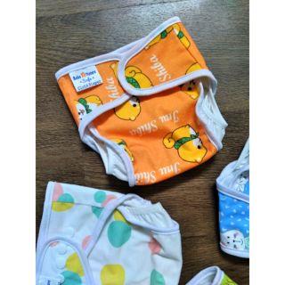 Combo 5 bộ tã vải chống thấm cho bé size M và L ngày cho bé từ 3 đến 20kg