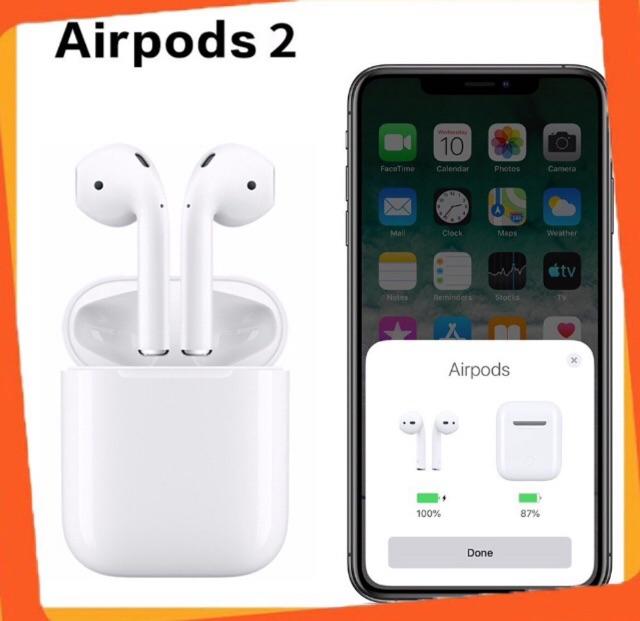 Tai nghe Bluetooth AP2 Định vị, Đổi tên, Sạc không dây Siêu Cấp Bản Mới Nhất