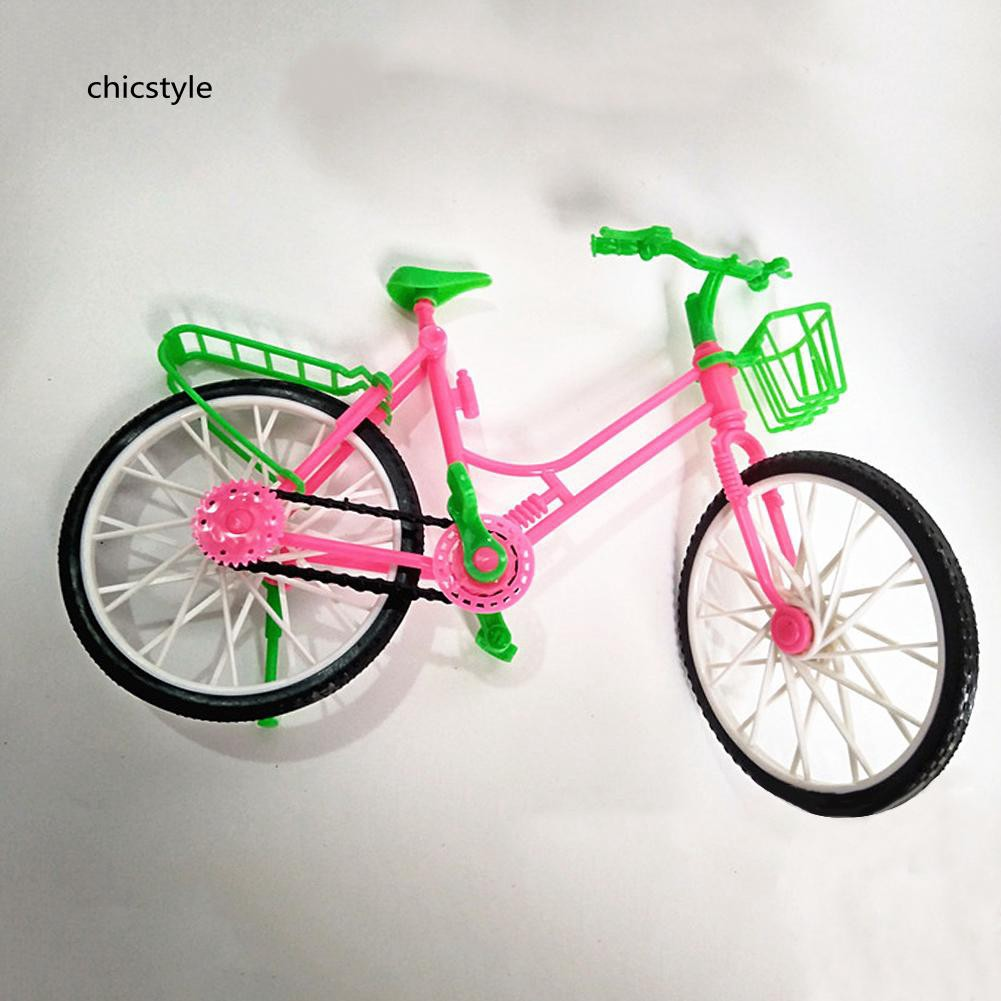 ❤❤❤Girl Toy Doll Accessories Plastic Bicycle Bike Kids Play House Gifts Decors