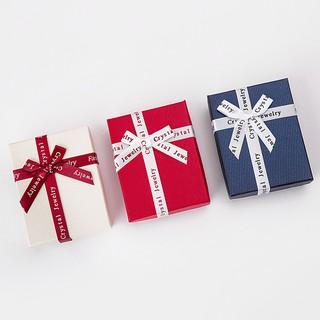Hộp quà đựng trang sức mini thắt nơ dễ thương 7x9x2.8cm nhiều màu hộp đựng phụ kiện 2021