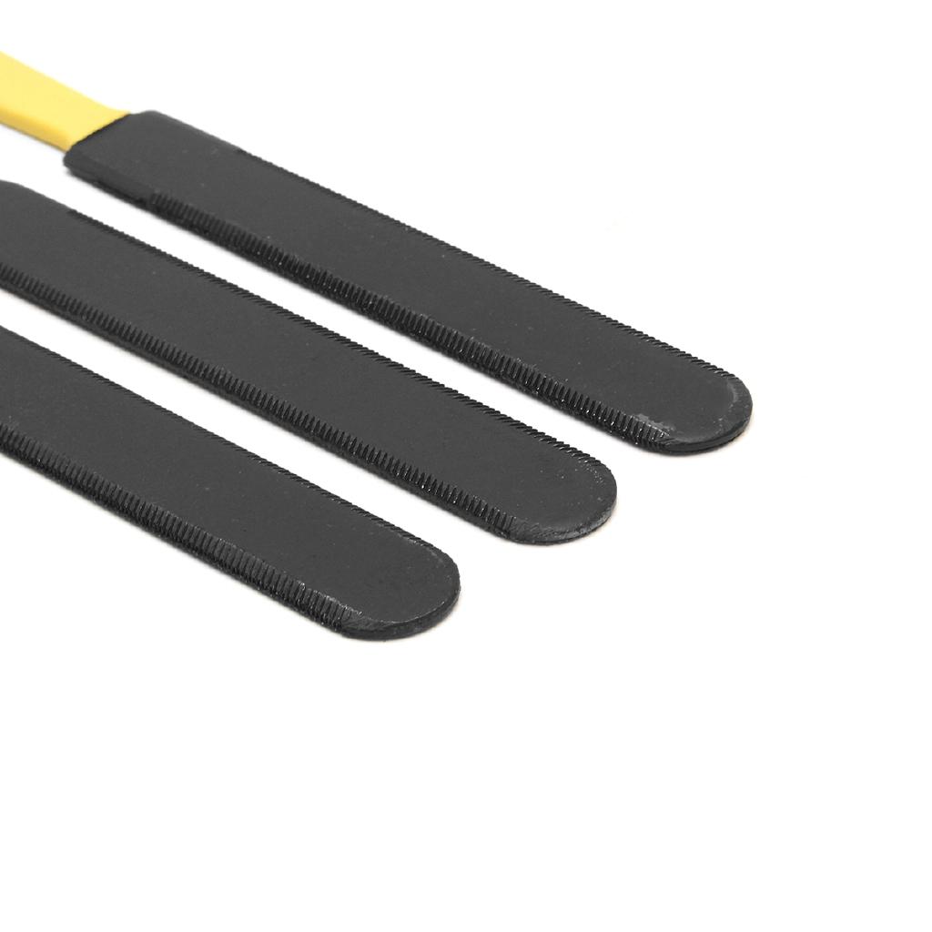 Set of 3 Guitar Gauged Nut Slotting File Double Sided Nut Saddle Luthier Tool