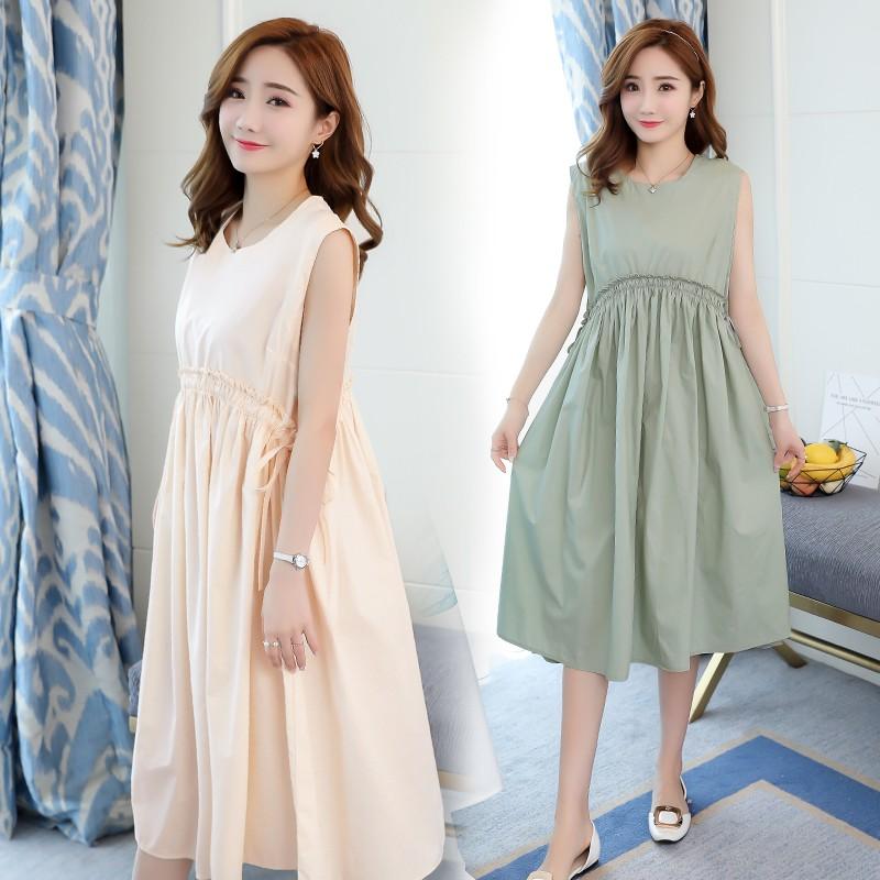 Đầm bầu , váy bầu đơn giản dễ thương thích hợp cho dạo phố du lịch xa