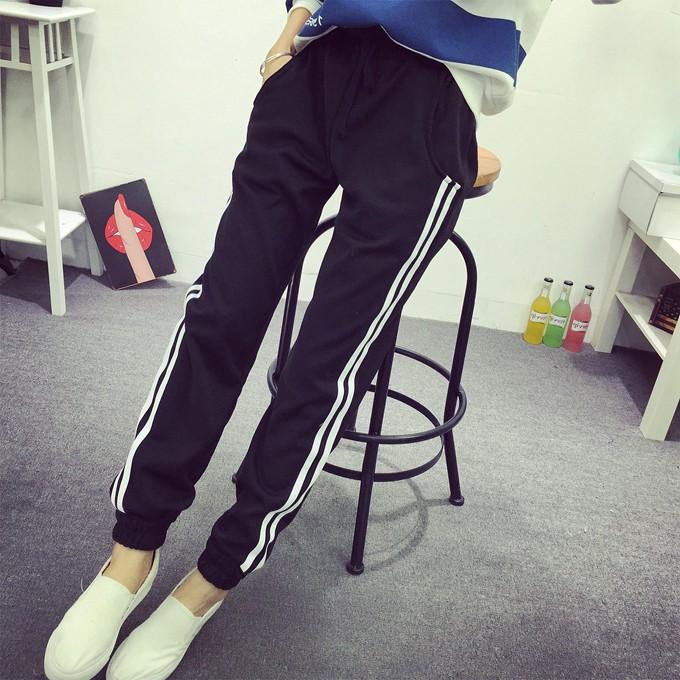 Quần dài jogge nữ bo chân thời trang mới Jg02(2 sọc)