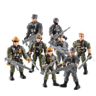 Bộ 17 Mô Hình Lính Quân Đội Đồ Chơi Cho Bé