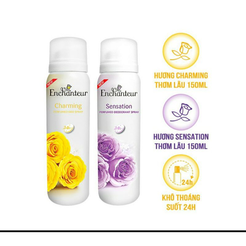 Xịt khửi mùi enchanteur 150ml