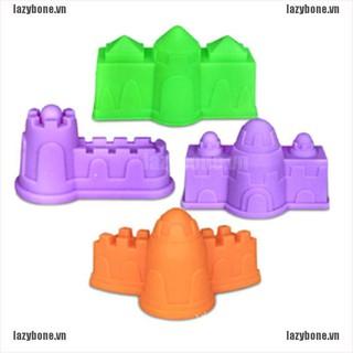 {lazy} 4Pcs Plastic Castle Building Model Mold Beach Fun Toys For Kids Children Toy{bone}