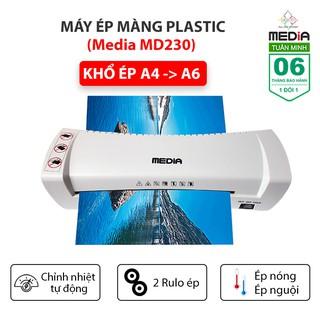 Máy Ép Nhựa Dẻo, Máy Ép Màng Plastic Media MD230 Khổ Ép A4