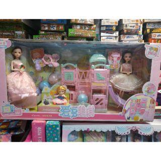 [390] Bộ đồ chơi Búp bê Barbie khu vui chơi