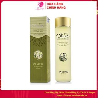 [Hàng Nhập Khẩu] Nước hoa hồng dưỡng trắng da tinh chất dầu Olive 3W CLINIC 150ml [Cam Kết Chính Hãng Hàn Quốc] thumbnail