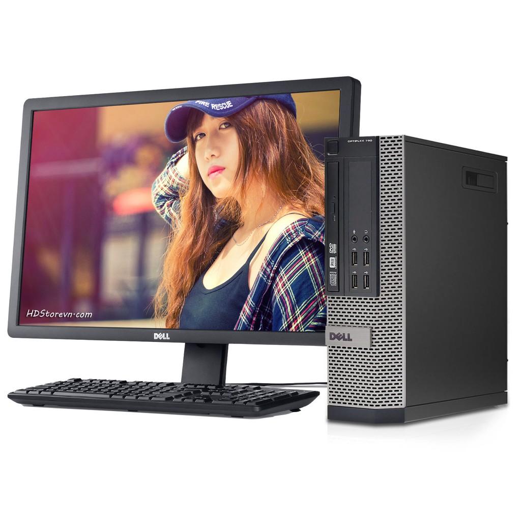 Trọn bộ máy tính hãng dell 790 sff( ram3 4g, hdd 500g, cpu i5 2400, dvd)màn dell 18.5 inch KM...
