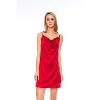 DREAMY VS09-70 Váy Ngủ Lụa Cao Cấp Hai Dây Cổ Đổ Cuốn Hút thumbnail
