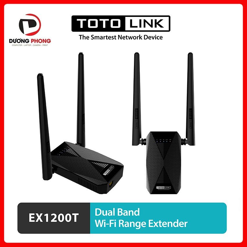 Kích sóng Wi-Fi TOTOLINK EX1200T Băng tần kép AC1200 - BH24T Chính hãng