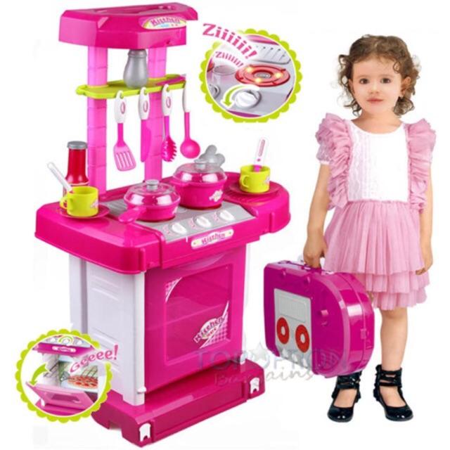 Bộ đồ chơi nhà bếp Kitchen set có âm thanh và ánh sáng