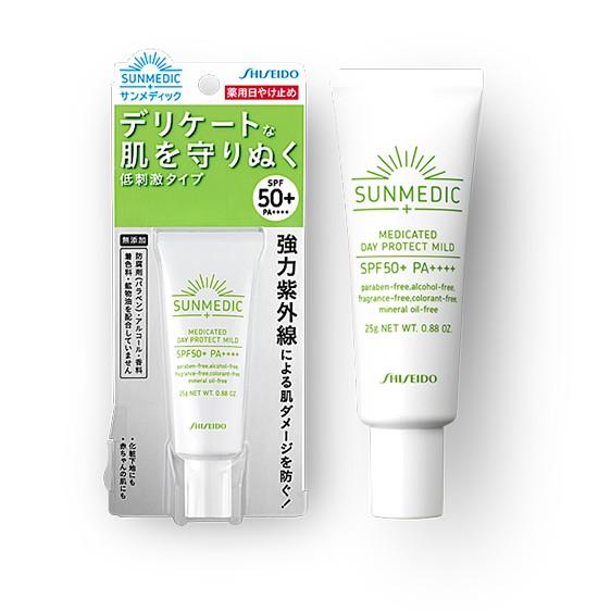(sale sock)Kem chống nắng Shiseido Sunmedic Medicated Day Protect Mild 25g
