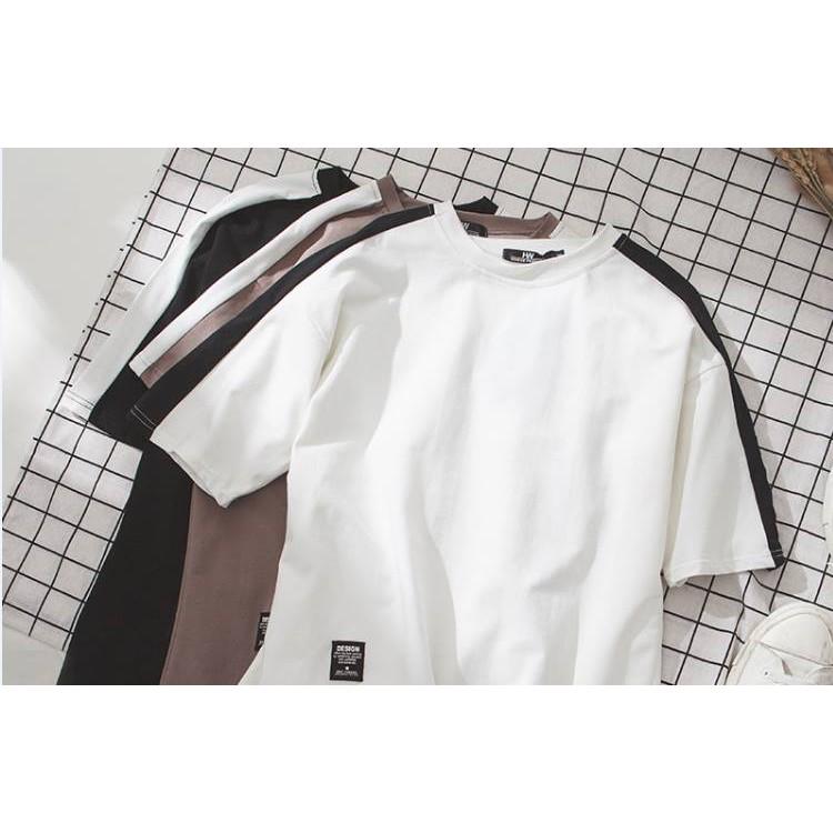 _Free Ship 99k_ Áo thun vải tốt Áo thun Unisex áo thun nam nữ (trắng,đen,nâu)