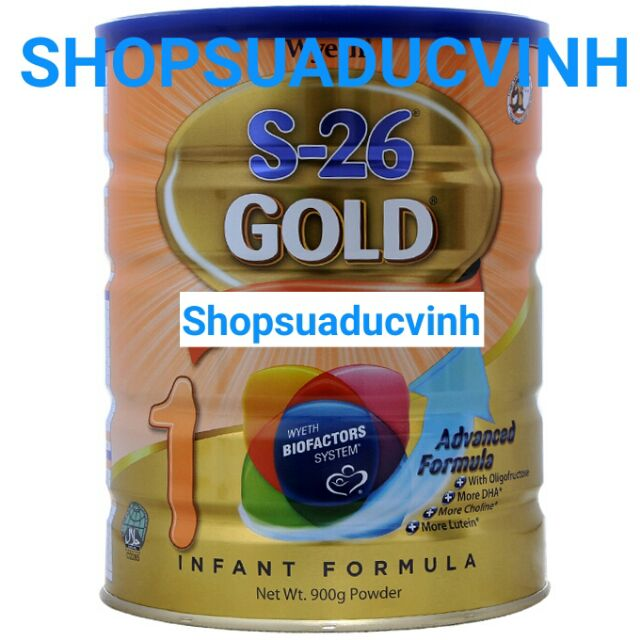 Sữa bột S-26 Gold 1 900g date 01/2019