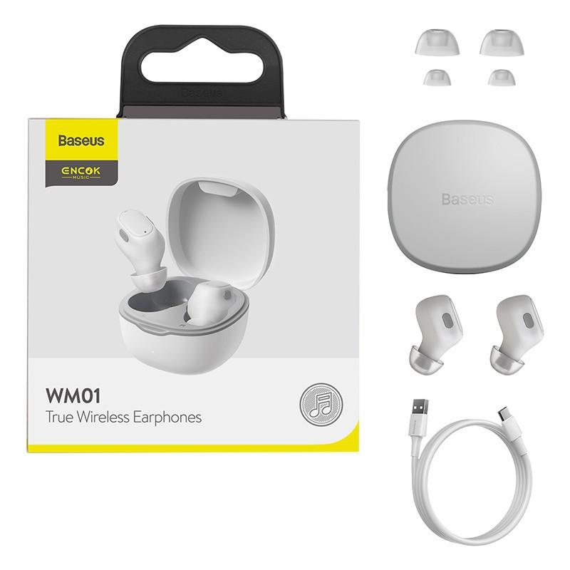 Tai Nghe Bluetooth Không Dây Baseus WM01 TWS Chống Ồn Bluetooth 5.0 Công Nghệ Chống Tiếng Ồn Mới Nhất