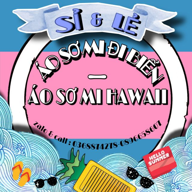 ÁO SƠ MI ĐI BIỂN HOA LÁ HAWAII