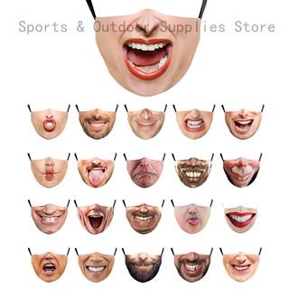Mặt nạ vải Cotton in hình mặt cười 3D 7 phong cách vui nhộn có thể tái sử dụng