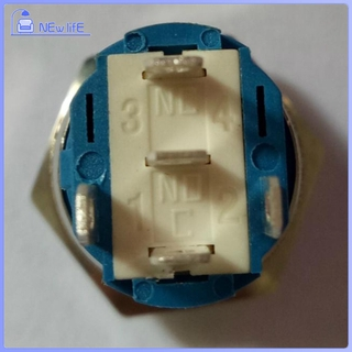 Waterproof Momentary Push Button Horn Switch For Doorbell/Boat/Car, Self -Locking