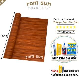 [KHỔ 120CM] giấy dán tường giả gỗ 🎁FREESHIP🎁 Decal dán tường/dán phòng ngủ/dán phòng khách/dán tủ/dán bàn giả gỗ đẹp