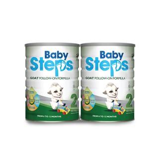 [Mã FMCG12 - 12% đơn 500K] Combo 2 lon Sữa Dê Công thức Baby Steps Goat Follow-On Formula số 2 900gr