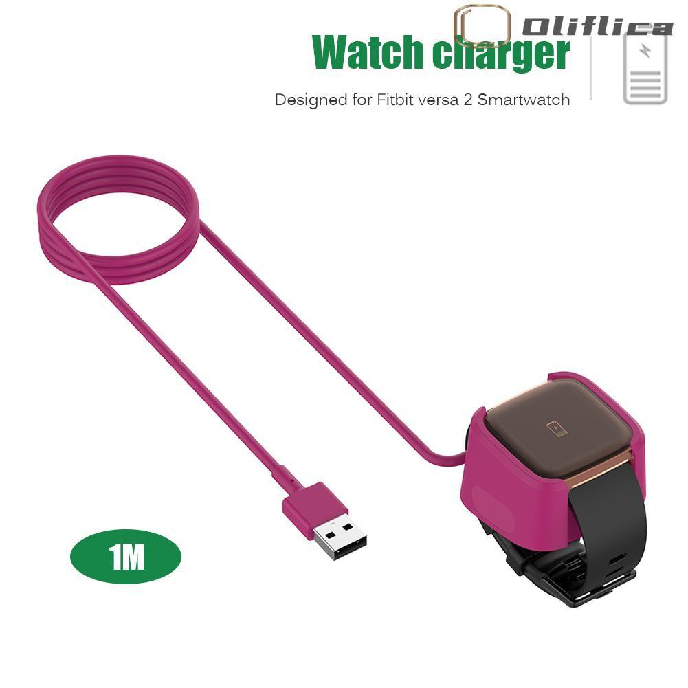 Cáp Sạc Usb 3.28ft Chuyên Dụng Cho Đồng Hồ Thông Minh Fitbit Versa 2