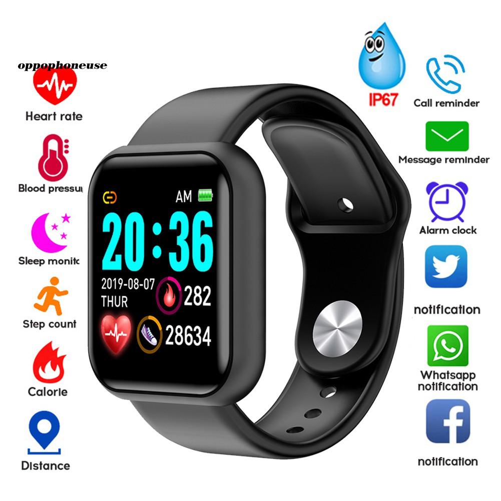 Bộ Vòng Tay Thông Minh Chống Nước Giám Sát Nhịp Tim & Huyết Áp Y68 Cho Ios Android