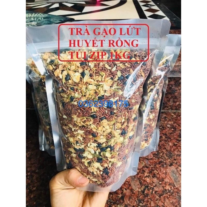 1kg trà hoa ngũ cốc đậu đen gạo lức hoa lài lá sen