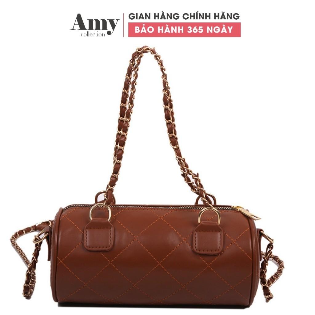 Túi đeo chéo nữ dáng trụ dây đeo xích đỏ TX00910 TX798 TX798