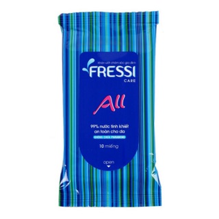 Khăn giấy ướt Fressi All 10 miếng - Nhật Bản