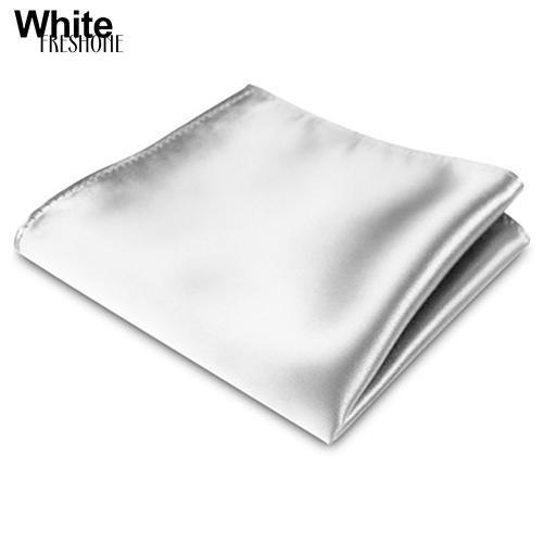 Freshone Men's Satin Solid Plain Color Handkerchief Hanky Pocket Square Wedding