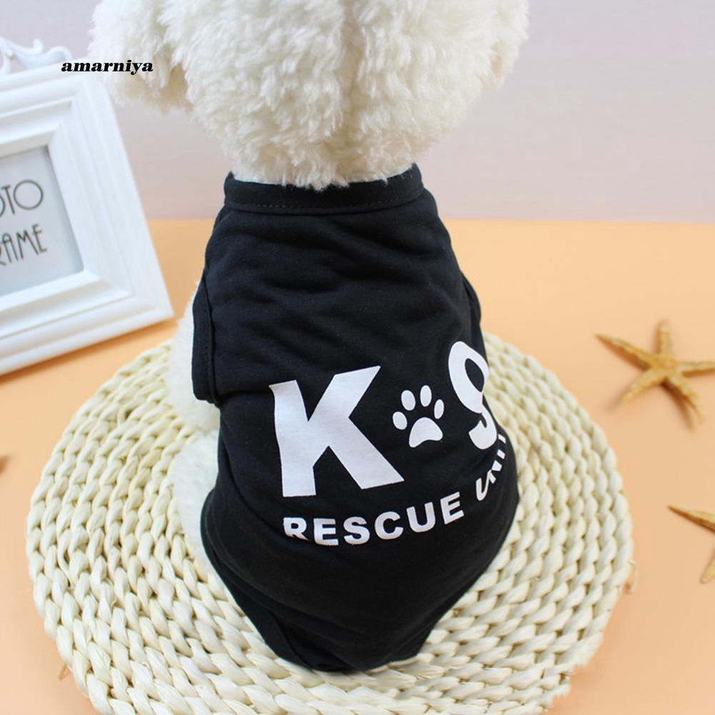 AMA♥Fashion Letters Print Summer Puppy Dog Vest Sleeveless Top Soft Pet Clothes