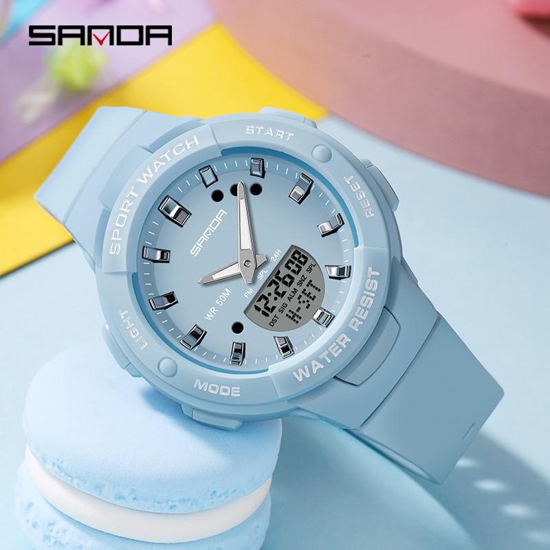 Đồng Hồ SANDA SD6005 Thời Trang Sang Trọng Đa Chức Năng Phát Sáng Không Thấm Nước Cho Nữ