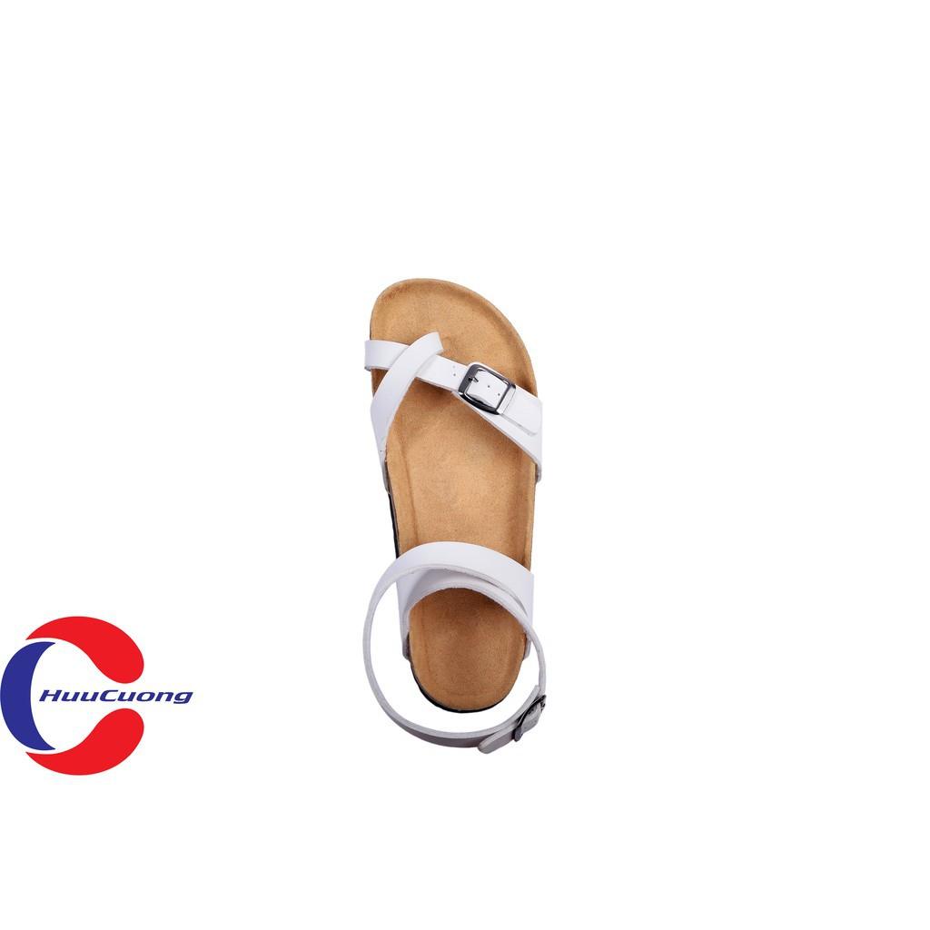 Hình ảnh Sandal unisex thời trang HuuCuong - xỏ ngón cổ cao đế trấu-2