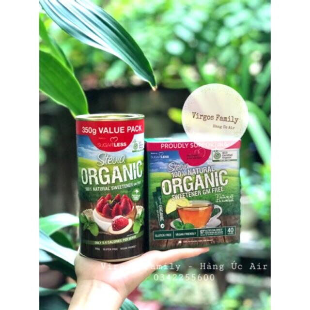 Đường cỏ ngọt Stevia Organic