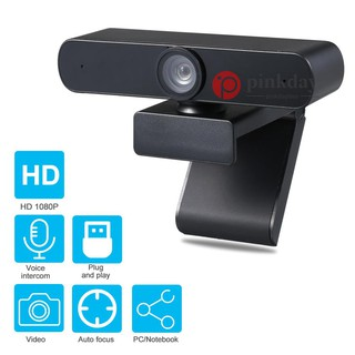 Ready stock Webcam with Microphone Desktop or Laptop Widescreen for Video Calling and Recording Black 1080P