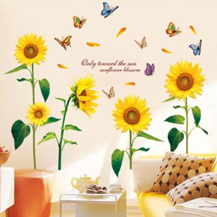 Decal dán tường hoa hướng dương