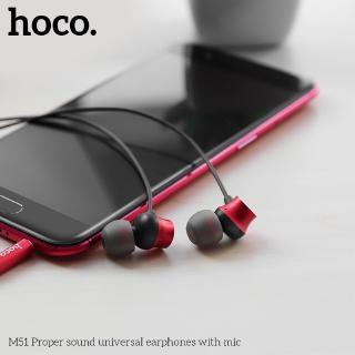 Hình ảnh Hoco M51 Tai nghe dài 1.2M giắc 3.5mm kèm micro phát âm thanh chất lượng cao-6